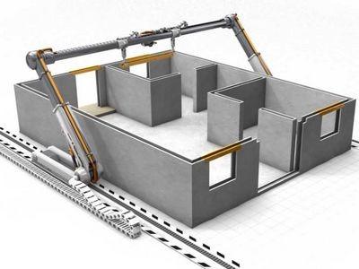 В москве установили 3d-принтер, который печатает бетоном