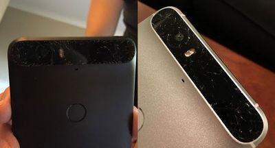 В некоторых смартфонах nexus 6p начало трескаться стекло, прикрывающее основную камеру