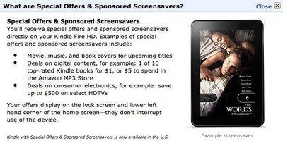 В новых планшетах amazon kindle fire можно будет отключить рекламу за $15