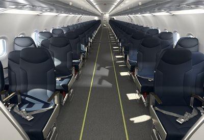 В узкофюзеляжныж самолётах появятся раздвижные кресла