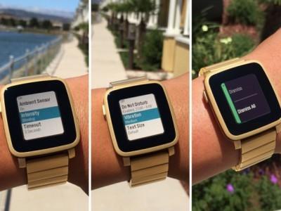 Владельцы pebble time смогут настраивать вибрацию, подсветку и шрифт