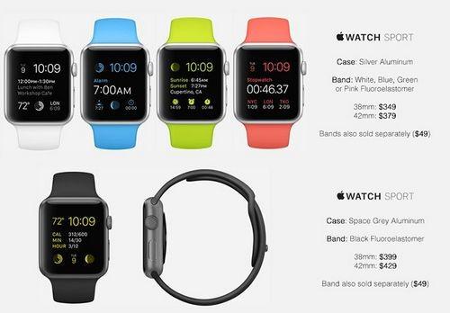 Все версии и цены apple watch
