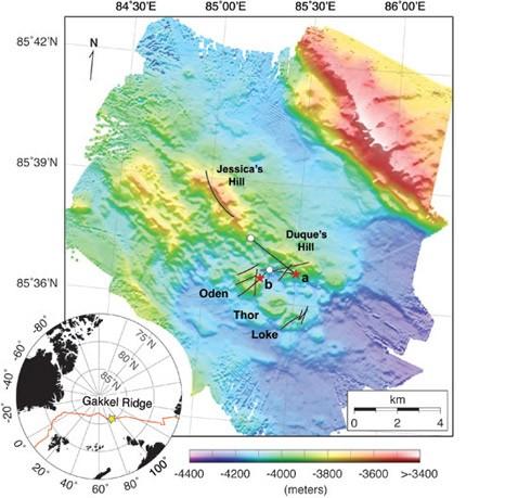 Вулкан варктике извергался на невозможной глубине