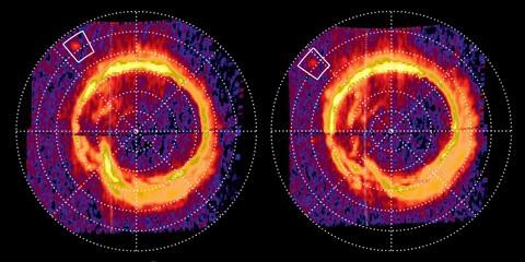 Выявлен электрический ток между сатурном иэнцеладом