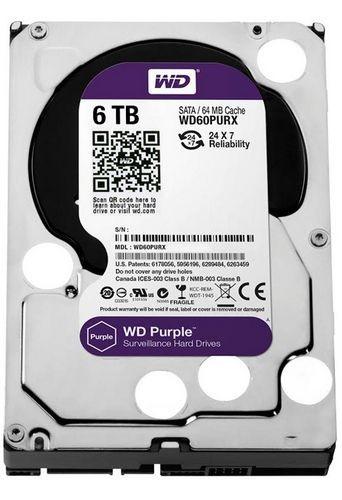 Wd анонсировала накопитель wd purple с 6 тб памяти для систем видеонаблюдения