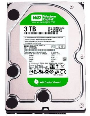 Western digital представила hdd caviar green емкостью 3 тб