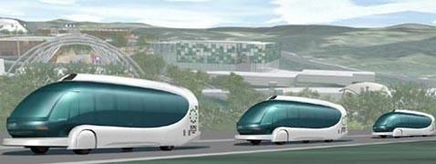 Z-capsule toyota: автономные автобусы собираются в стаи